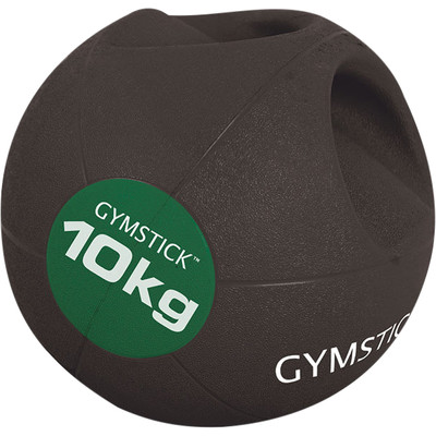 Gymstick Medicine bal - Met Handvaten - 10 kg - Zwart / Groen