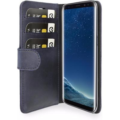 Valenta Classic Luxe Vintage Samsung Galaxy S8 Book Case Blauw