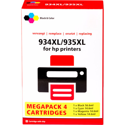Pixeljet HP 934/935 Cartridge 4-Kleuren XL