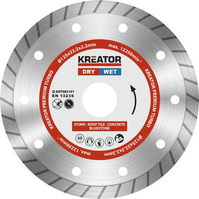 Kreator Diamantschijf Permium Turbo 125 mm
