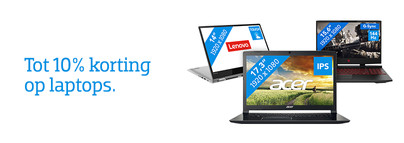 Tot 10% korting op laptops
