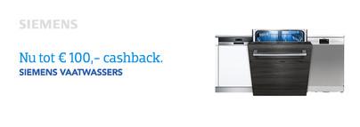 Siemens Vaatwassers Cashback