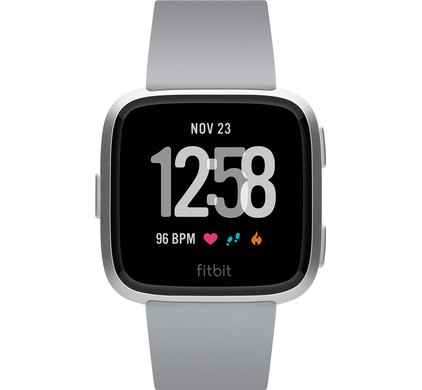 Fitbit Versa Gray/Silver Aluminum Main Image
