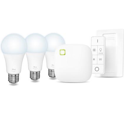 Trust Smart Home White Ambiance E27 Starterkit met Dimmer