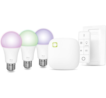 Trust Smart Home White and Color E27 Starterkit met Dimmer