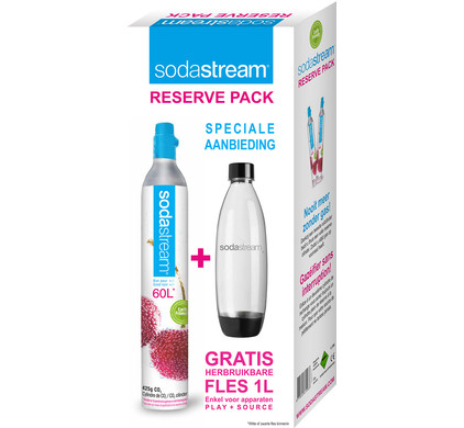 SodaStream Reservepack CO2-Cilinder + Fles