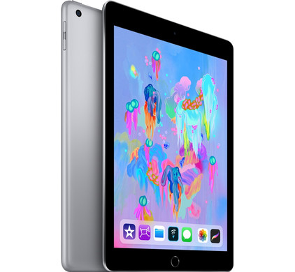 Apple iPad (2018) 128 GB Wifi + 4G Space Gray Left side