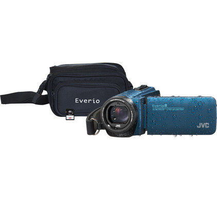 JVC GZ-R495AEU Blue + memory card + bag Main Image