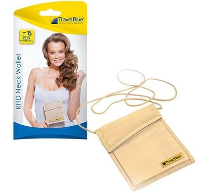 Travel Blue Neck Wallet RFID Main Image