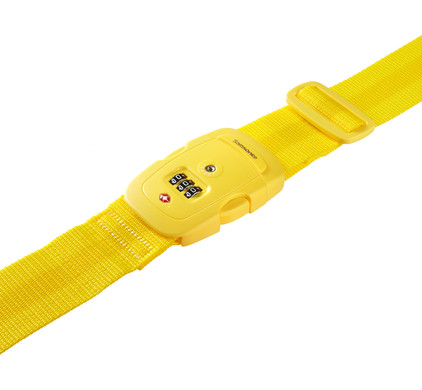 Samsonite Safe US3 Combi Luggage Strap 2 Yellow Top
