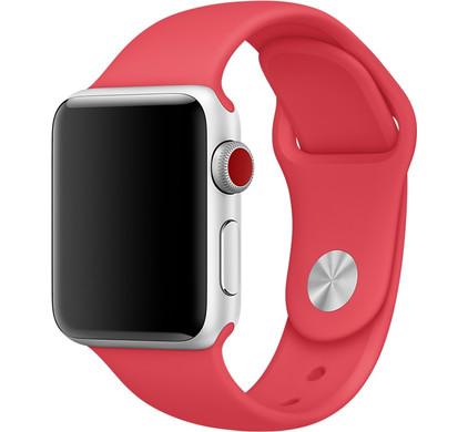Apple Watch 42mm Siliconen Horlogeband Sport Frambozenrood