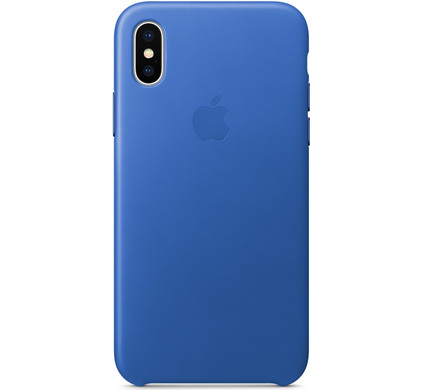 outlet store 390e2 cdcc7 Apple iPhone X Leather Back Cover Electric Blue