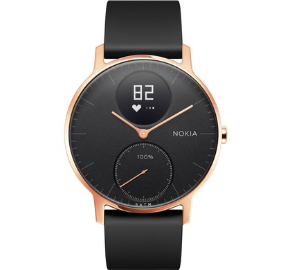 Nokia Steel HR (36mm) Rose Gold Black Silicon Main Image