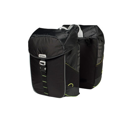 Basil Miles Double Bag 34L Black Lime