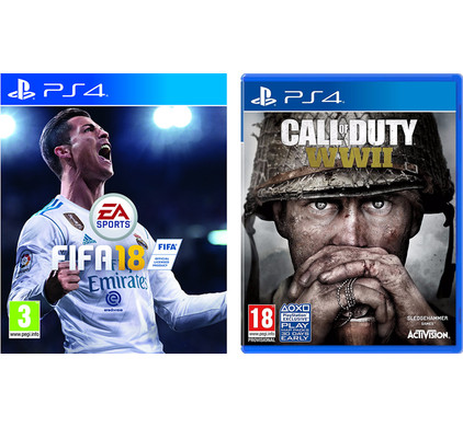 FIFA 18 PS4 + Call of Duty: WWII PS4
