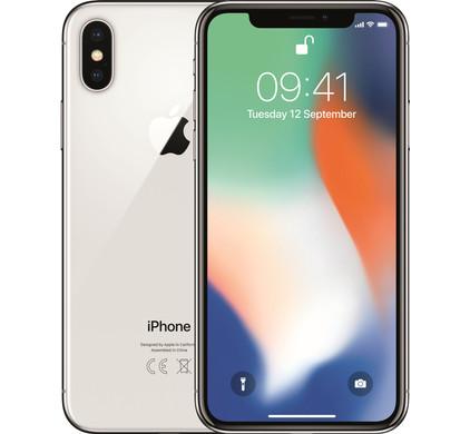 Apple iPhone X 256GB Zilver - Coolblue - Voor 23.59u, morgen in huis