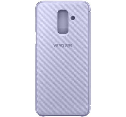 Samsung Galaxy A6 Plus 2018 Wallet Cover Book Case Paars
