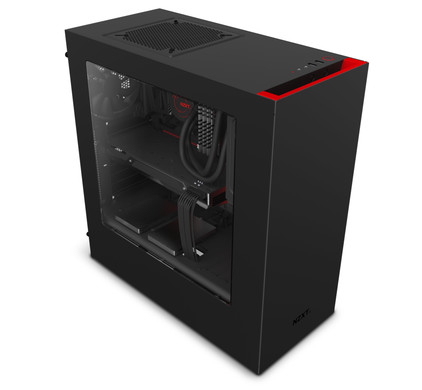 NZXT S340 Black / Red