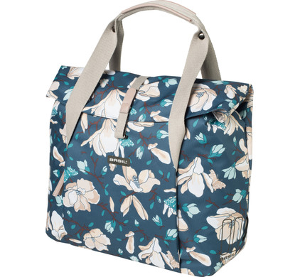 Basil Magnolia Shopper 18L Teal Blue