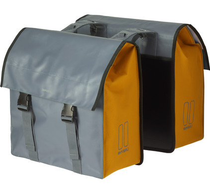 Basil Urban Load Double Bike Bag 53L Grey/Gold