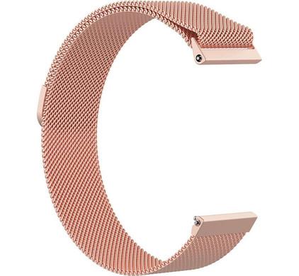 Just in Case Fitbit Versa Milanees Horlogeband Rose Goud