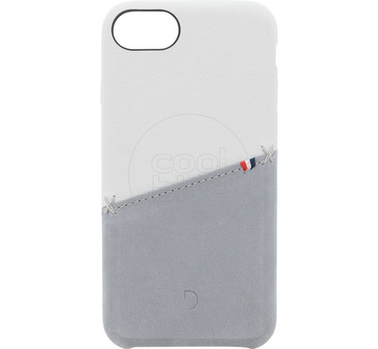 meet c486e b7091 Decoded Leather Snap On Apple iPhone 6/6s/7/8 Back Cover White