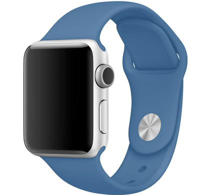 Apple Watch 38mm Siliconen Horlogeband Sport Jeansblauw