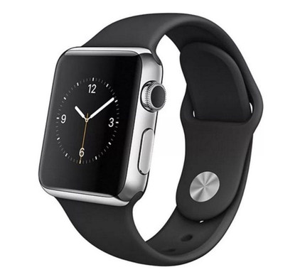 Apple Watch 42mm Polsband Sport Zwart/Spacegrijs