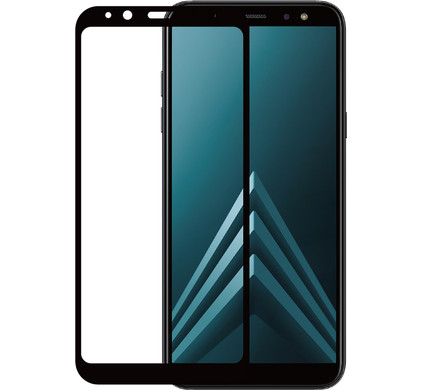 Azuri Gehard Glas Samsung Galaxy A6 Plus (2018) Screenprotector Glas Zwart - Coolblue - Voor 23.59u, morgen in huis