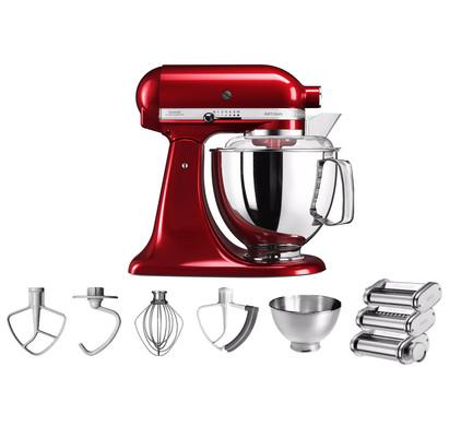 KitchenAid Artisan 5KSM175PS Appelrood + Pastarollerset Main Image