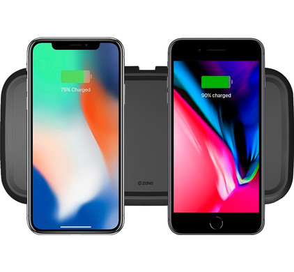 ZENS Dual Fast Wireless Charger 30W Black Main Image