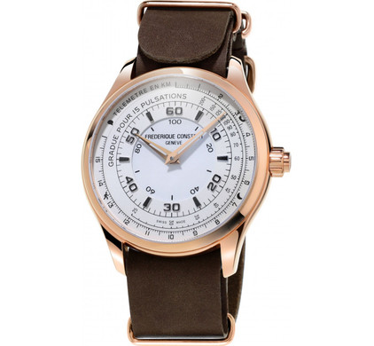 Frederique Constant Horological Chronograph White / Brown Main Image