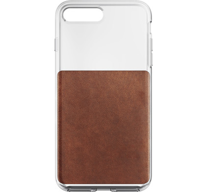 low priced cd0c8 2b4ee Nomad Clear Apple iPhone 7 Plus / 8 Plus Back Cover Brown