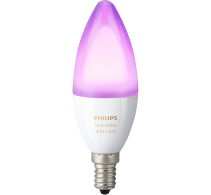 Philips Hue White and Color E14 - Coolblue - alles voor een glimlach