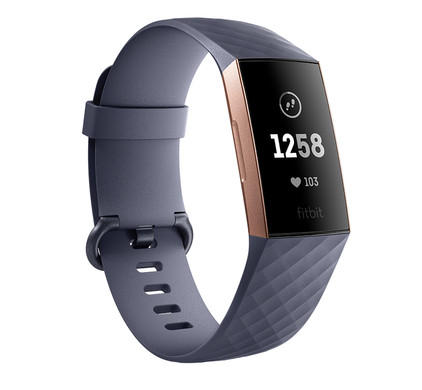 Fitbit Charge 3 Blue Gray / Rose Gold Aluminum Main Image
