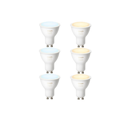 Philips Hue White Ambiance GU10 6-Pack Main Image
