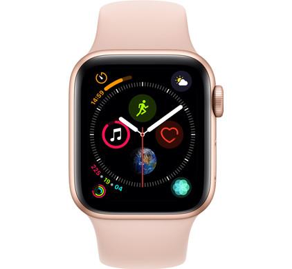 Apple Watch Series 4 40mm Goud Aluminium/Roze Sportband Main Image