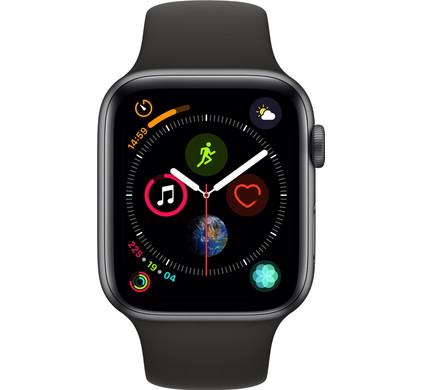 Apple Watch Series 4 44mm Space Gray Aluminum/Black Sport Band Main Image