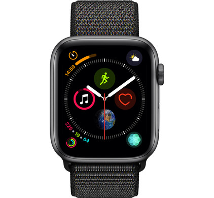 Apple Watch Series 4 44mm Space Gray Aluminum/Black Nylon Sport Band Main Image