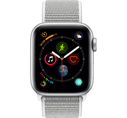 Apple Watch Series 4 40mm Silver Aluminum/Gray Nylon Sport Band Main Image