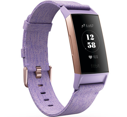 Fitbit Charge 3 Special Edition Lavender Aluminum Main Image
