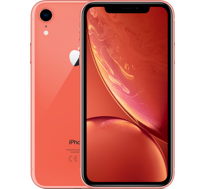 Apple iPhone Xr 256 GB Koraal - Coolblue - Voor 23.59u, morgen in huis