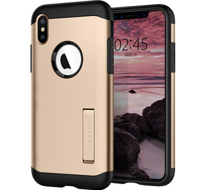 new product 4198b 33e4a Spigen Slim Armor Apple iPhone Xs Max Back Cover Gold