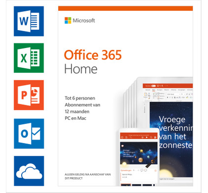 Microsoft Office 365 Home 1-year Subscription NL Main Image