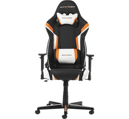 Miraculous Dxracer Racing Gaming Chair Black Orange White Machost Co Dining Chair Design Ideas Machostcouk
