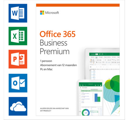 Microsoft Office 365 Business Premium 1 year Subscription NL Main Image