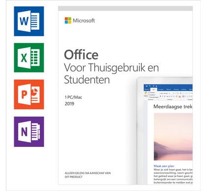 Microsoft Office 2019 Home use and Students EN Main Image
