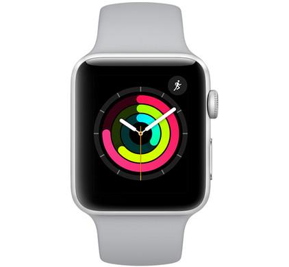 Apple Watch Series 3 38mm Silver Aluminum/Gray Sport Band Main Image