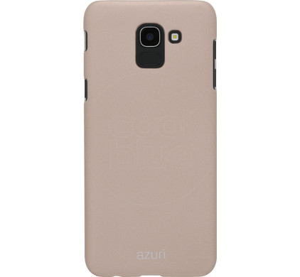 reputable site 681db 64c5d Azuri Metallic Soft Touch Samsung Galaxy J6 (2018) Back Cover Gold