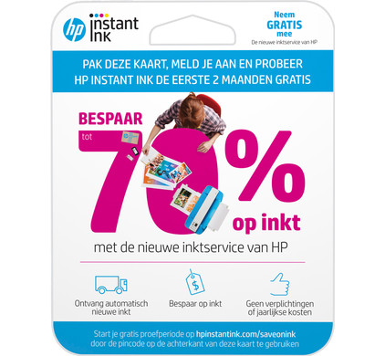 HP Instant Ink Enroll Card Main Image